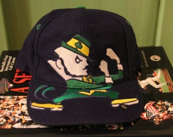 notre dame snapback big logo NCAA hat backscript fighting irish NCAA march madness