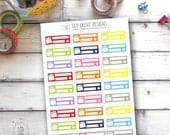 Bill Due Tracker, Set of 27 - Perfect for Erin Condren, Limelife, Mambi and Plum Paper Planners