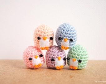 Pastel penguin keychain, kawaii home decor, cute plush keychain