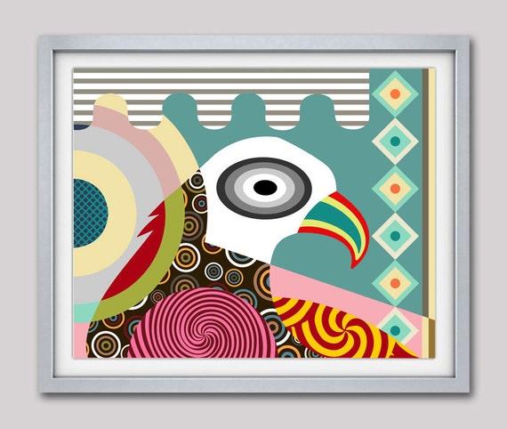 Eagle Painting, Eagle Wall Art Print, American Eagle, Bird Art Print, Eagle Design, Eagle Decor, Eagle Gifts, Eagle Poster, Eagle Print