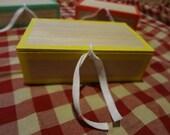Reproduction 1800s cigar box Yellow