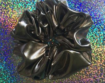METALLIC CHROME Hair Scrunchie