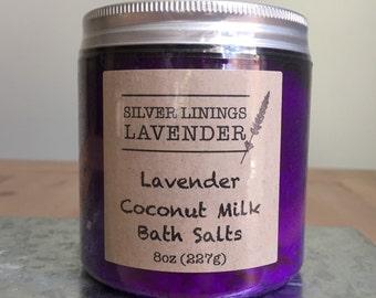 Lavender Coconut Milk Bath Salts