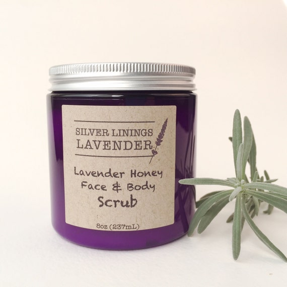 Natural Lavender Honey Scrub For Face and Body/ Natural Face Scrub/ Natural Body Scrub/  Natural Exfoliation for Face & Body/ Gentle