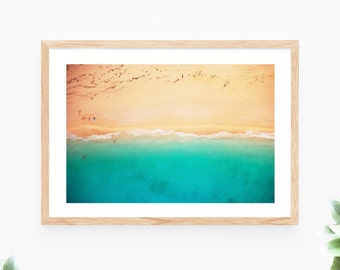 Beach Sea Ocean Waves Printable Wall Art Instant Download Seaside Turquoise Teal Contemporary Wall Art Printable Poster Landscape Photo