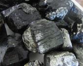 Black Tourmaline and Quartz - Authentic Rough Stone