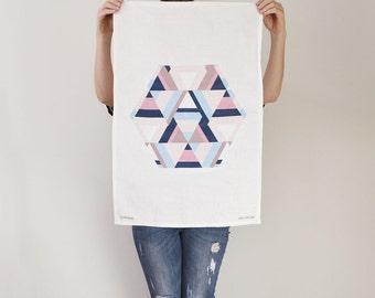 Aztecy Print Kitchen Tea Towel – aztec, pattern, linen, dish cloth, kitchen decor, dinnerware, geometric, original design