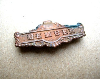 Antique Victorian Pin  - Victorian Jewelry - Antique Brass Brooch - Vintage Brass Pin - Rare Brass Finding