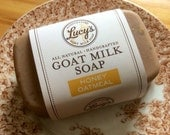Honey Oatmeal Handcrafted French Milled Goat Milk Soap Bath Bar