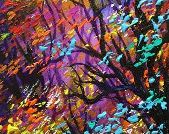 "A Burst Of Inspiration - 14""x7""x0.5"" Acrylic on Canvas"