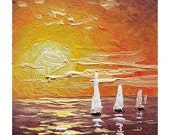 "635  miniature  art, 1""x 1""  original miniature oil painting on 1/8 artist board."