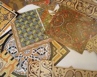 Decoupage paper, rare patterns 100 pieces