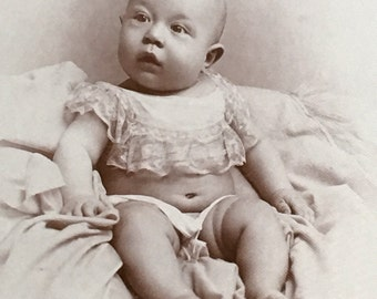 Chubby Baby Cabinet Card Photo Alvin Summerfield Tilles