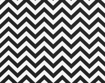 Premier Prints Zigzag Black and white 7 oz home decor fabric by the yard
