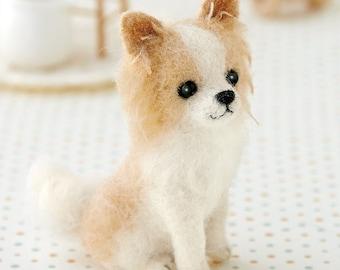 Chihuahua Dog Hamanaka Felt Wool Mascot Wool Felt Kit Designed by Sachiko Susa H441-450