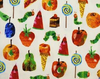 Hungry Catappilar / Japanese Fabric 110cm x 50cm