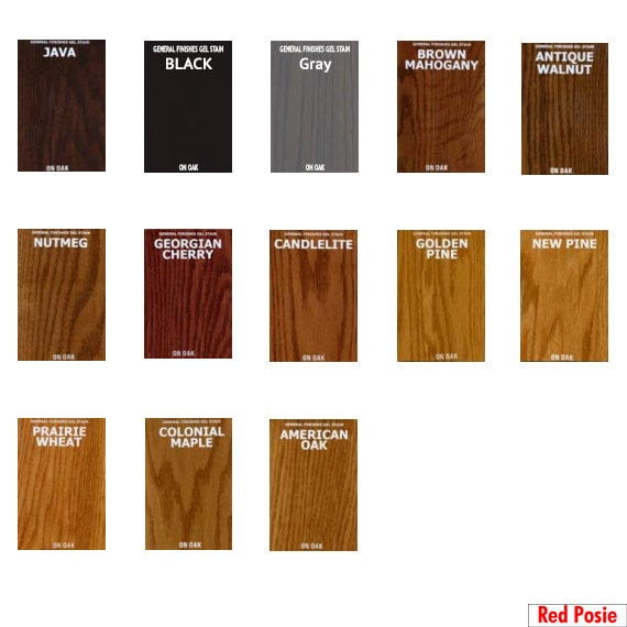 minwax gel stain colors chart home design idea