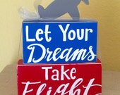 Airplane Nursery Decor Wooden Blocks