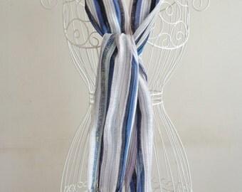 Cotton Striped Scarf,Shawl,Pareo,Pashmina.