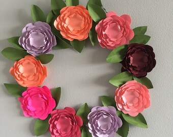 Make Your Own Paper Flower Wreath