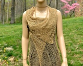 Handmade Linen Duster, Linen Vest, Linen Cover-up, Boho Duster, Boho Vest, Lace Duster, Bohemian vest, bohemian duster