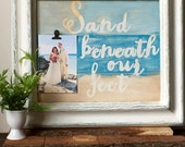 Beach Pallet Sign - Rustic Pallet Sign - Clip Frame -  Cottage Beach House Decor - Reclaimed Wood Frame