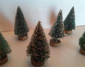 Vintage Christmas Bottle Brush Trees Putz