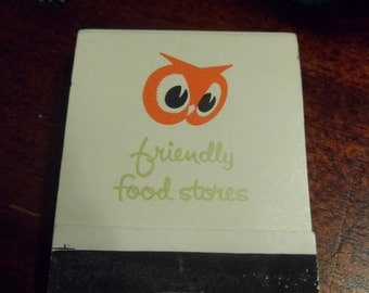 Unused Red Owl Matchbook, Friendly Food Stores Matchbook, Never Used    (T)