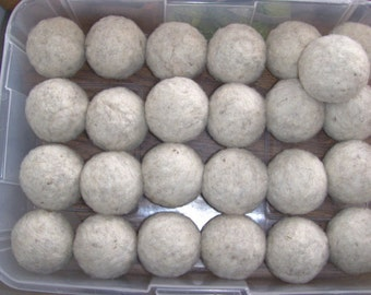 Eco-friendly, natural - off white, dryer balls bulk listing - 10 sets of wool dryer balls appr. 2.25 inches - 30 balls total