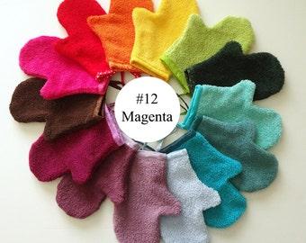 Magenta Terrycloth Bath Mitt (#12)