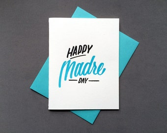 Happy Madre Day Letterpress Card