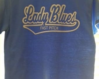 Short Sleeve T-shirt printed with Lady Blues