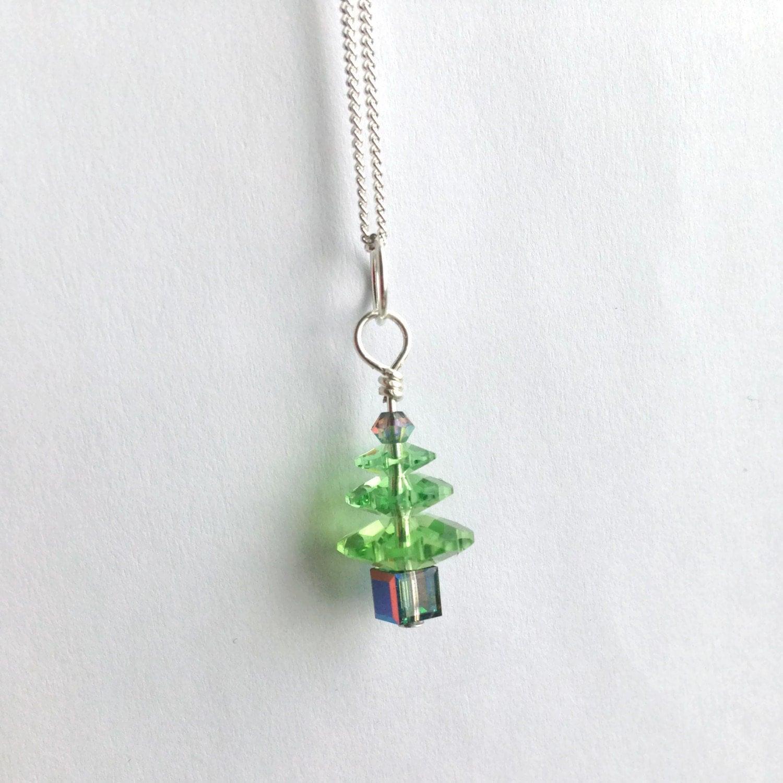 christmas tree necklace swarovski christmas tree necklace