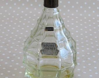 Vintage Loubet Freres Cologne Glass Bottle Perfume London and Paris