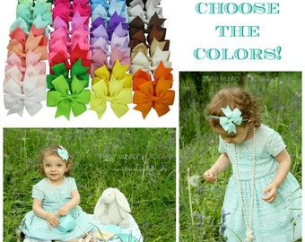 DIY Baby Headband Kit or DIY Hair Clip - You Choose the Colors - Great accessory for any outfit! DIY Crating Supplies