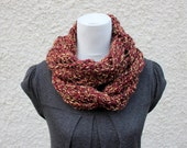 KNITTING PATTERN - Diagonal lace infinity scarf - Listing145