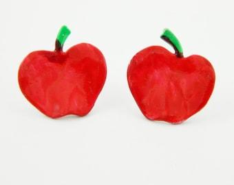 Folk Art Apple Earrings - OE004