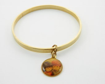 Fran Mar Moppets Bangle - Girl and Boy- BR015