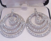Diamond Accent Swirl Pierced Earrings with 18 KT Gold Over Sterling Silver  Perfect for a Bride or Special Anniversary