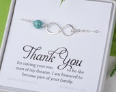 Mother of the groom gift from bride, infinity pearl bracelet, bride to mother in law gift, wedding gift for mother in law,mother of groom