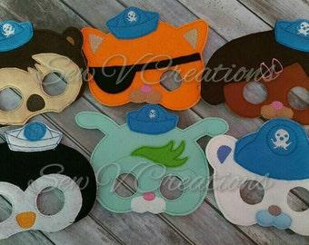 Octonauts Inspired Masks