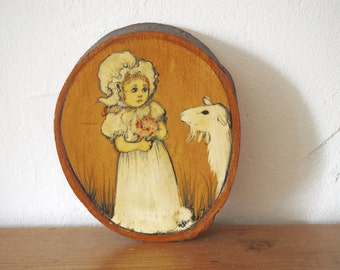 Nostalgic Little Girl Painting - Vintage Curio