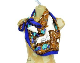 Vintage Designer Scarf, Adrianna Papell, Silk Scarf,