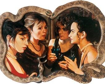 The gossip, Oil on panel Giclée print