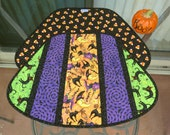 Quilted Halloween Placemats Witch Moon 484