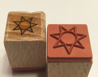 tiny sun rubber stamp, 17 mm (SB1)