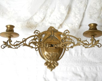 large antique french wall sconces brass piano candle holders brass art nouveau wall candelabra wall candlesticks