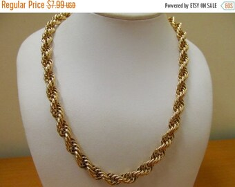 ON SALE Vintage Chunky Flexible Link Chain Item K # 2825