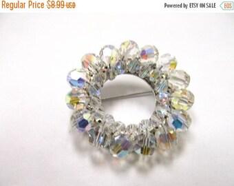 On Sale Vintage Sparkling Aurora Borealis Crystal Brooch Item K # 1055