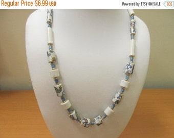 ON SALE Vintage Plastic Decorative Beaded Necklace Item K # 1915